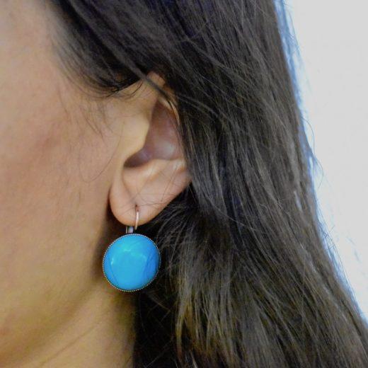 Boucles d'oreilles Tam Tam dans la Ville Cuivré Cercie Matte 3
