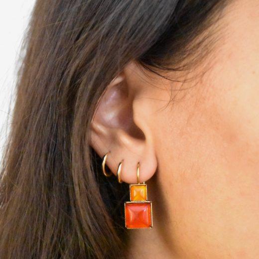 Boucles d'oreilles Tam Tam dans la Ville Doré Deus 2