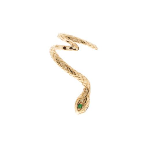 Bague d'oreille Plaqué Or Serpent 1