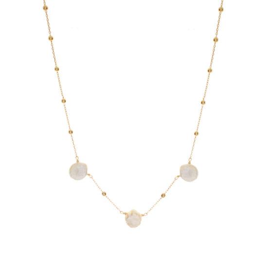 Collier Plaqué Or Perles Naturelles III 1