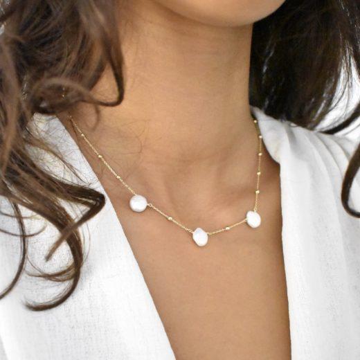 Collier Plaqué Or Perles Naturelles III 2