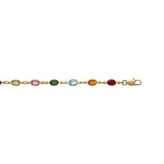 Bracelet Plaqué Or Cristal Color 1