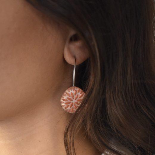 Boucles d'oreilles Culture Mix Clear Resin 1