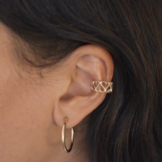 Bague d'oreille Plaqué Or Big Coeur 2