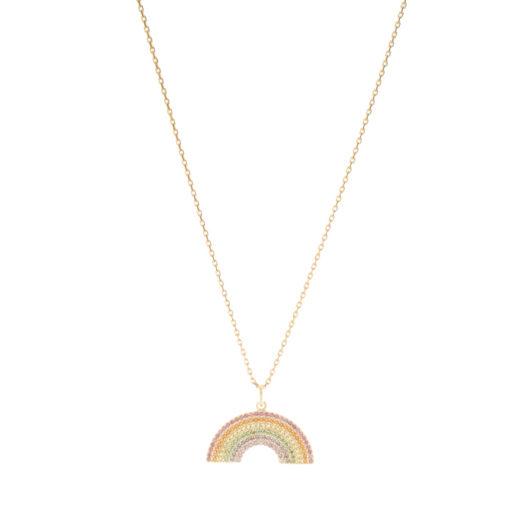 Collier Plaqué Or Rainbow 1