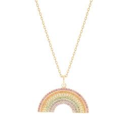 Collier Plaqué Or Rainbow 5