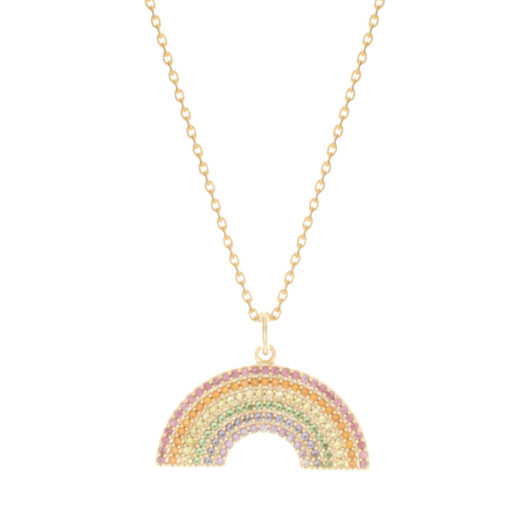 Collier Plaqué Or Rainbow 3