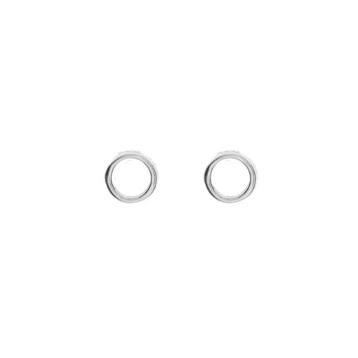 Puces Argent 925 Petits Cercles 1