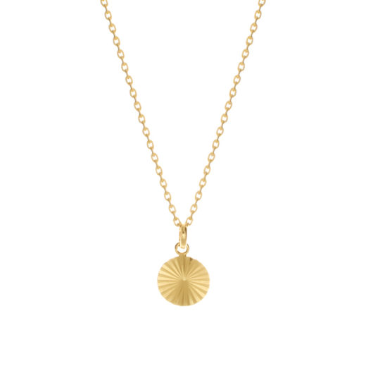 Collier Plaqué Or Medaille Rayons S 1