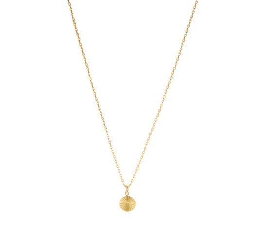 Collier Plaqué Or Medaille Rayons S 3