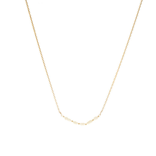 Collier Plaqué Or Perles Naturelles V 1