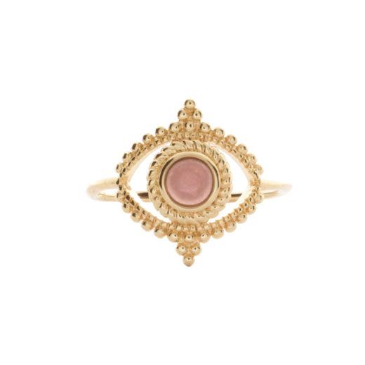 Bague Plaqué or Purple Eye 1