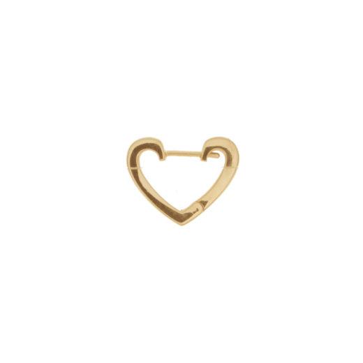 Créole Plaqué Or à l'unité Coeur Vie 1