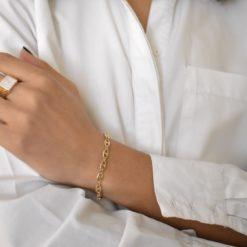 Bracelet Plaqué Or Chaine Graine de Café 4