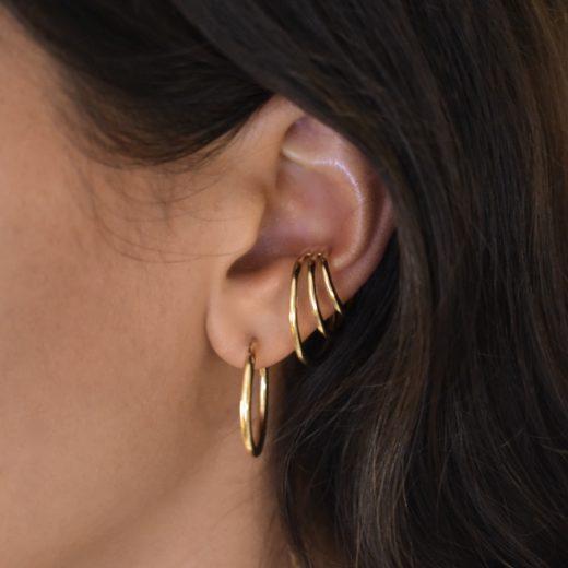Bague d'oreille Plaqué Or Gravitation 1